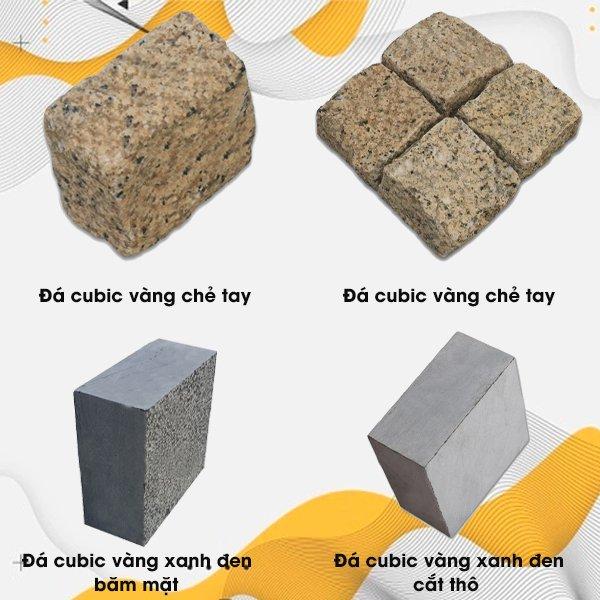 Các mẫu đá cubic lát sân hiện nay