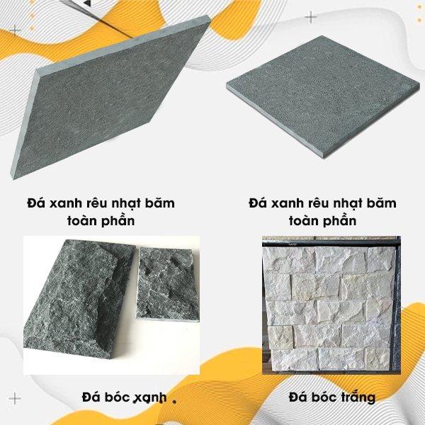 Các loại đá chẻ dùng trong lát sân