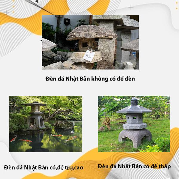 Các kiểu dáng của đèn đá Nhật Bản