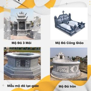 Các mẫu mộ đá hiện nay