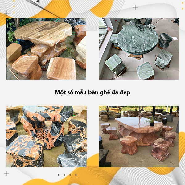 Một số mẫu bàn ghế đá tự nhiên