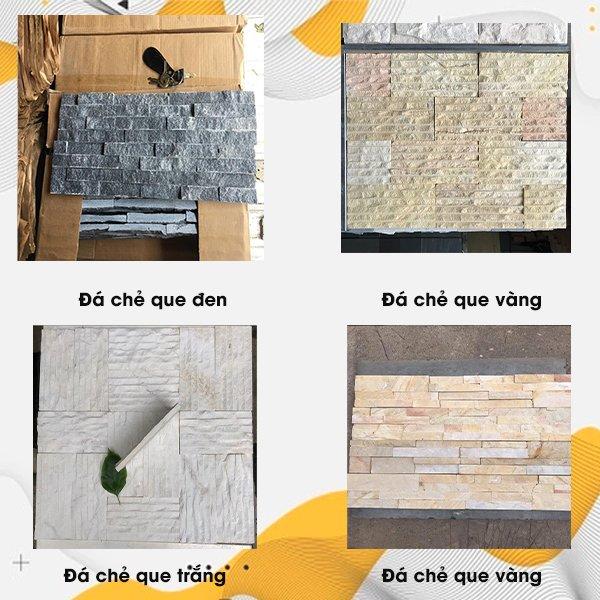 Đá chẻ que trang trí ốp tường